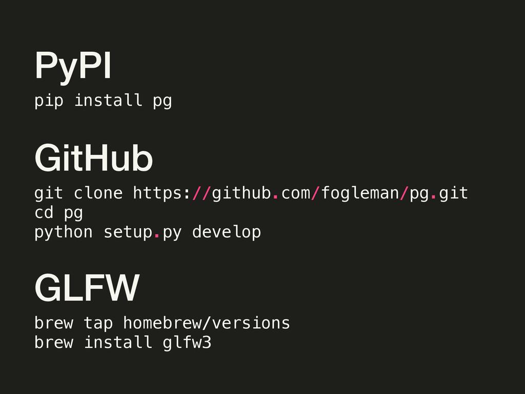 git clone https://github.com/fogleman/pg.git cd...