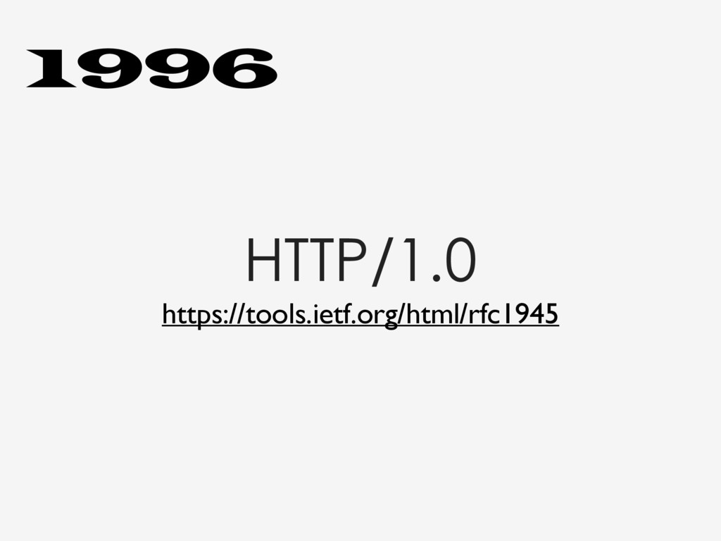 HTTP/1.0 https://tools.ietf.org/html/rfc1945 19...