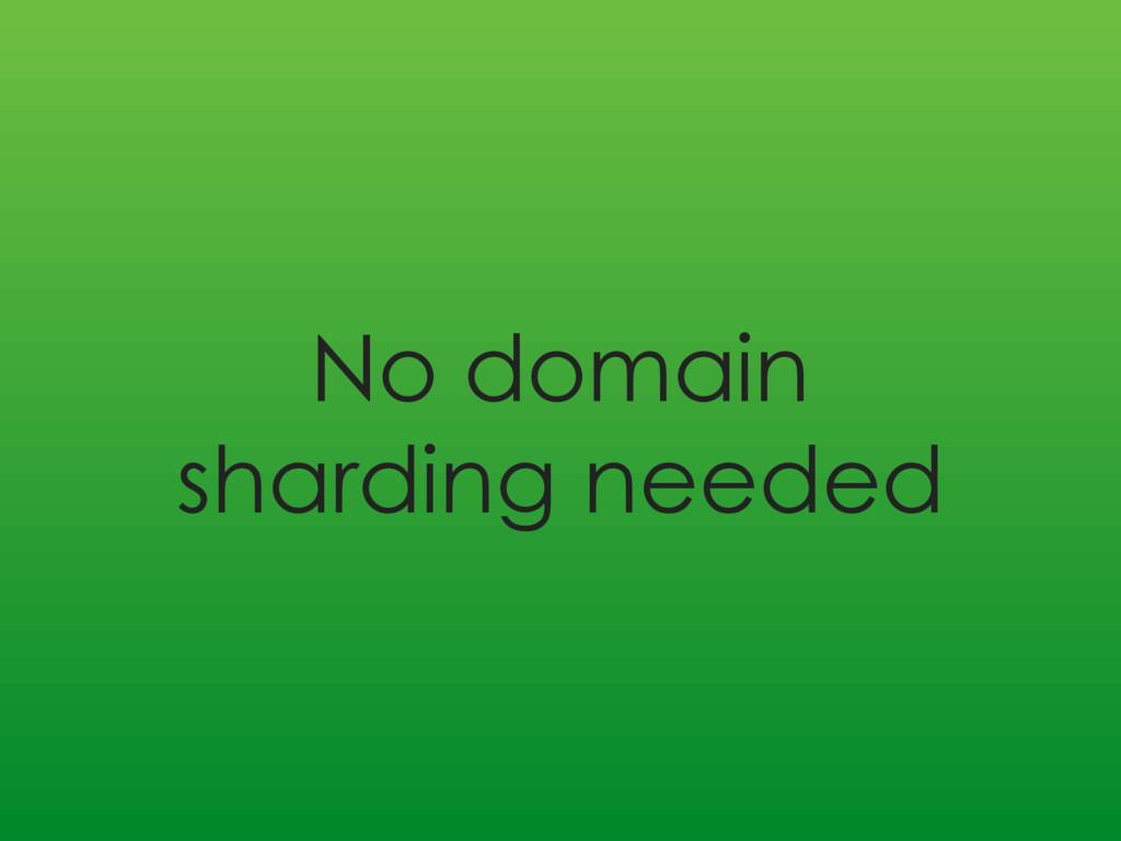 No domain sharding needed