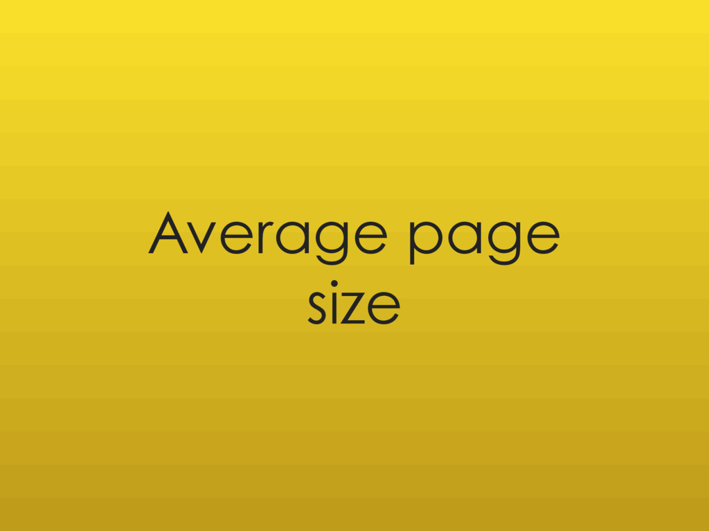 Average page size