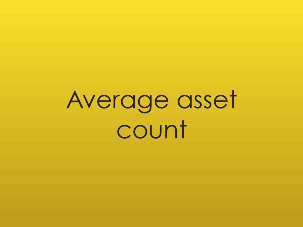 Average asset count