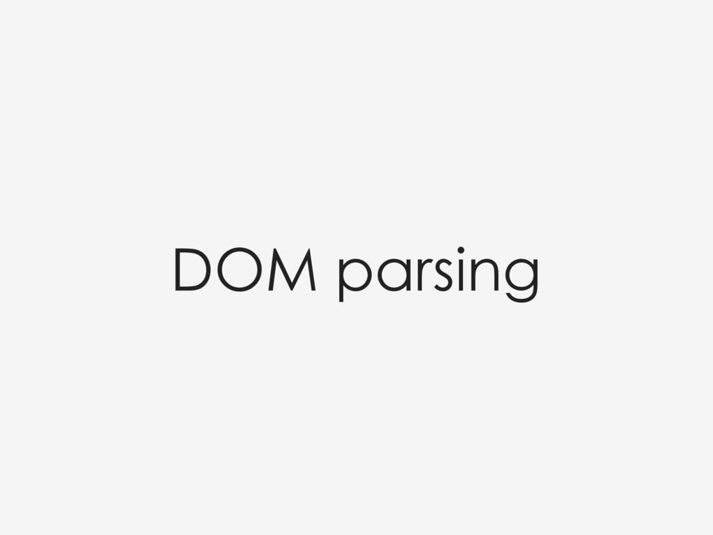 DOM parsing