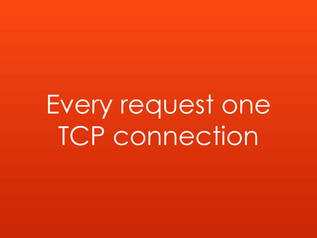 Every request one TCP connection
