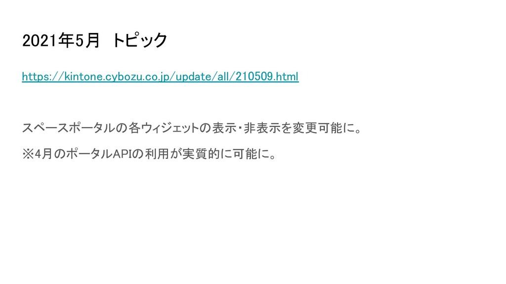 2021年5月 トピック https://kintone.cybozu.co.jp/upda...