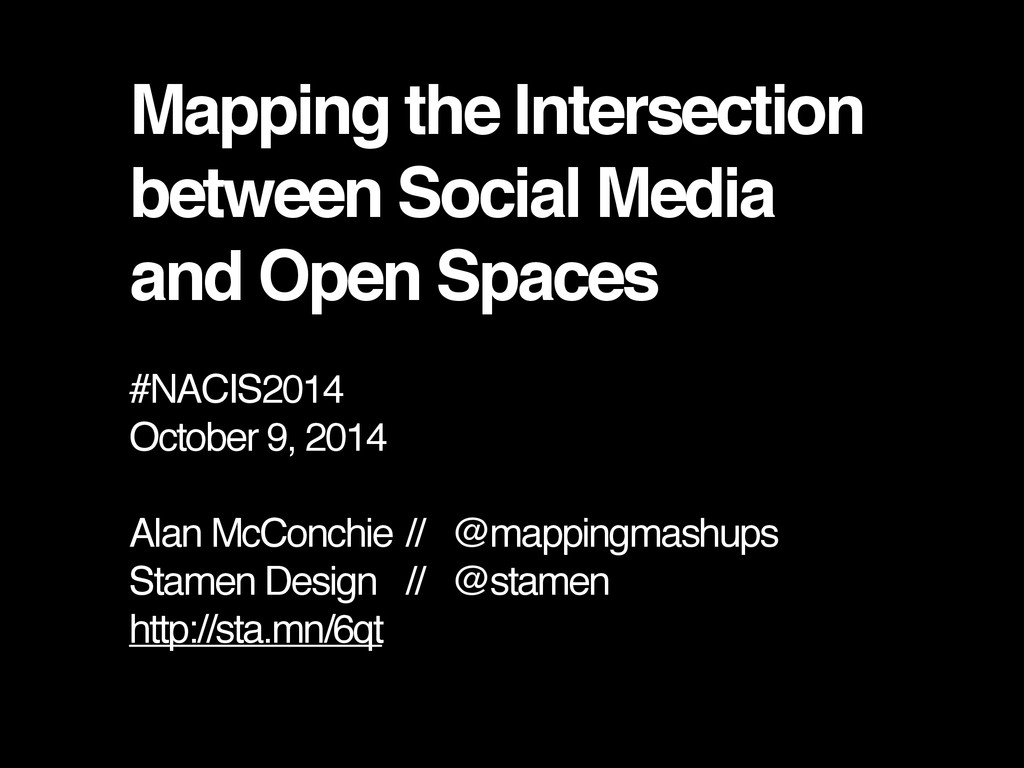 Mapping the Intersection between Social Media a...