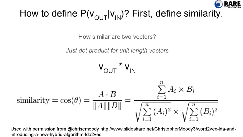 How to define P(v OUT |v IN )? First, define si...