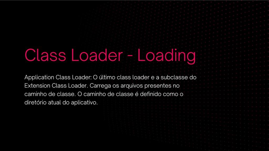Class Loader - Loading Application Class Loader...