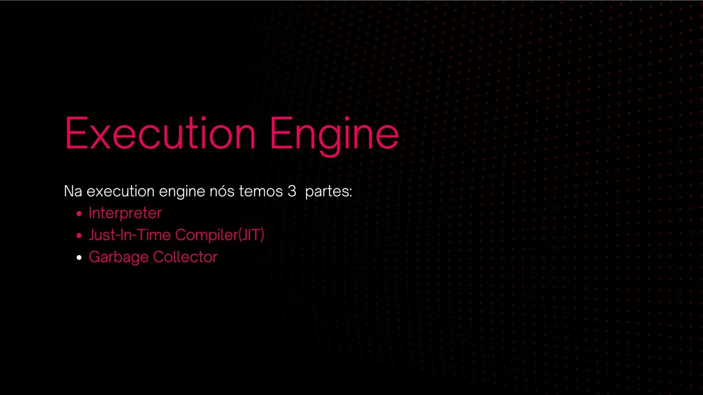 Execution Engine Interpreter Just-In-Time Compi...