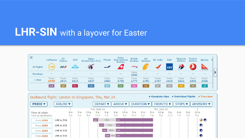 LHR-SIN with a layover for Easter