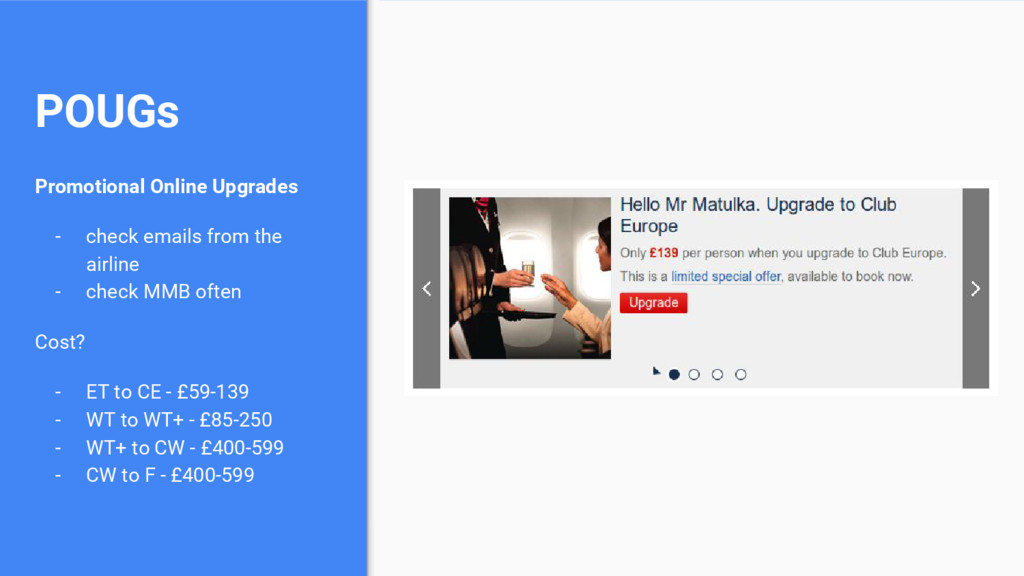 POUGs Promotional Online Upgrades - check email...