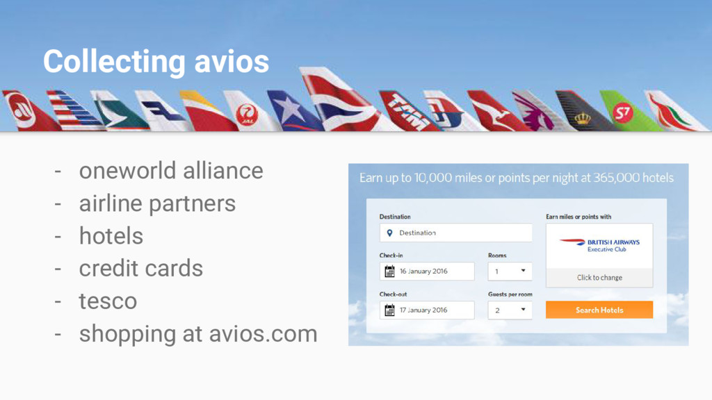 - oneworld alliance - airline partners - hotels...
