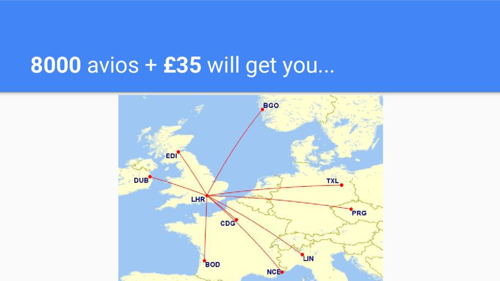 8000 avios + £35 will get you...