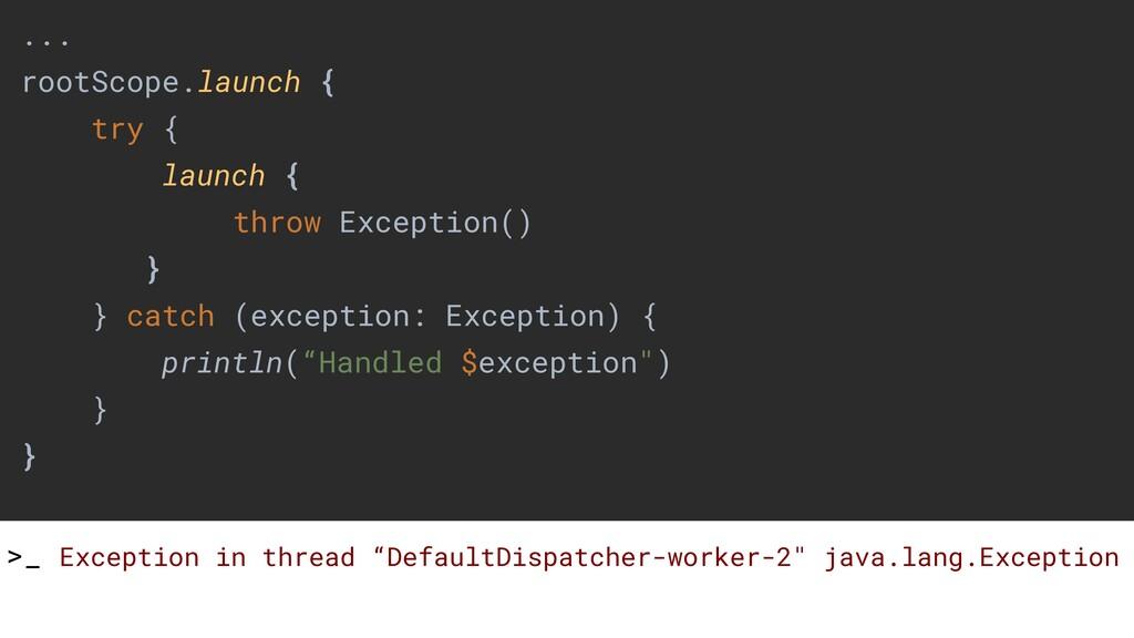 """>_ Exception in thread """"DefaultDispatcher-worke..."""