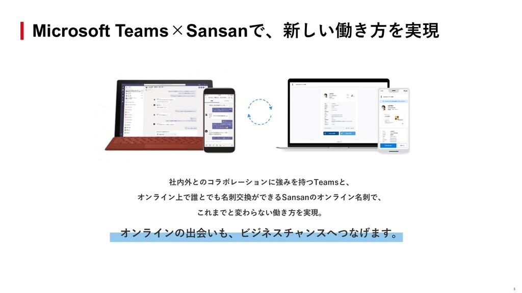 Microsoft Teams×Sansanで、新しい働き⽅を実現 社内外とのコラボレーション...