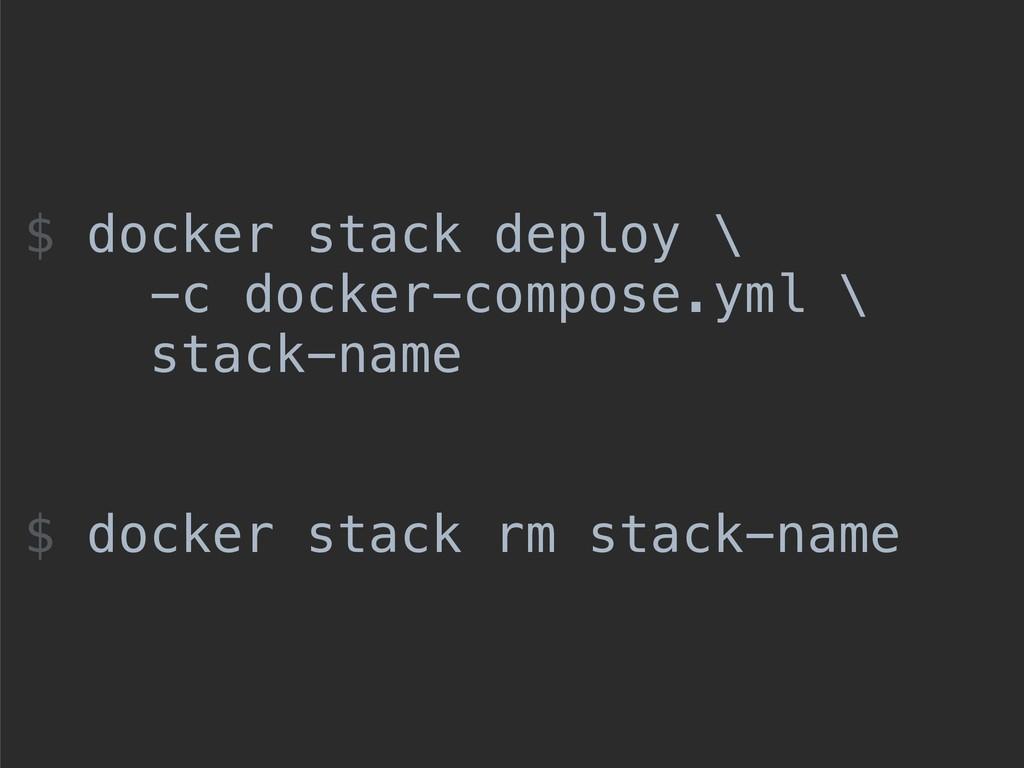 $ docker stack deploy \ -c docker-compose.yml \...