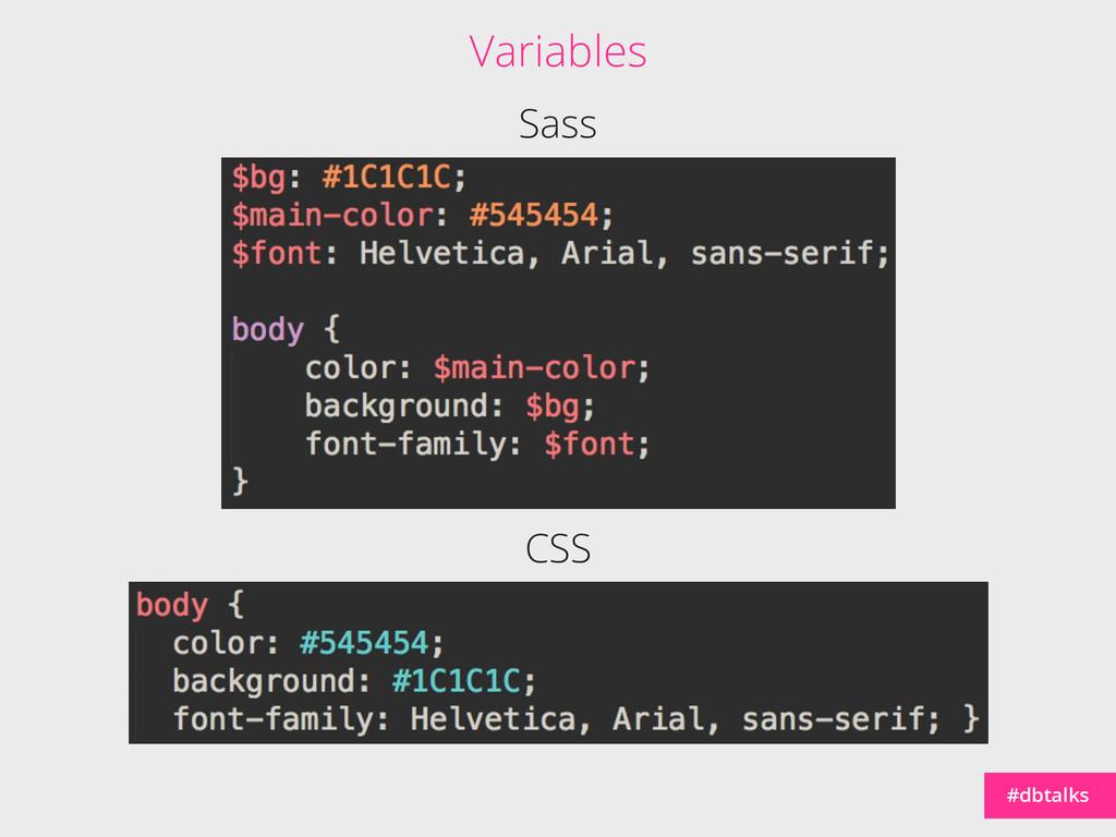 #dbtalks Sass CSS Variables