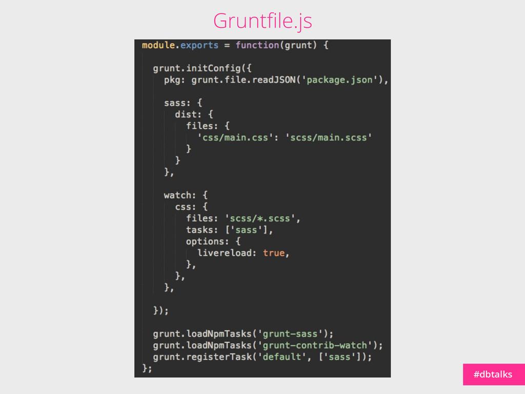 #dbtalks Gruntfile.js
