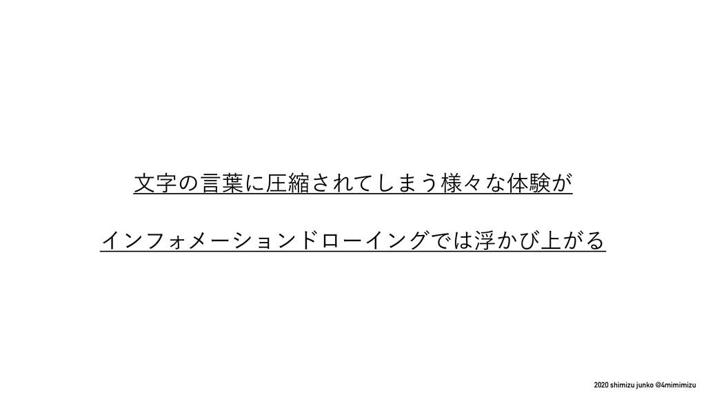 2020 shimizu junko @4mimimizu จͷݴ༿ʹѹॖ͞Εͯ͠·͏༷ʑͳ...
