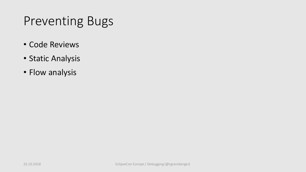 Preventing Bugs • Code Reviews • Static Analysi...