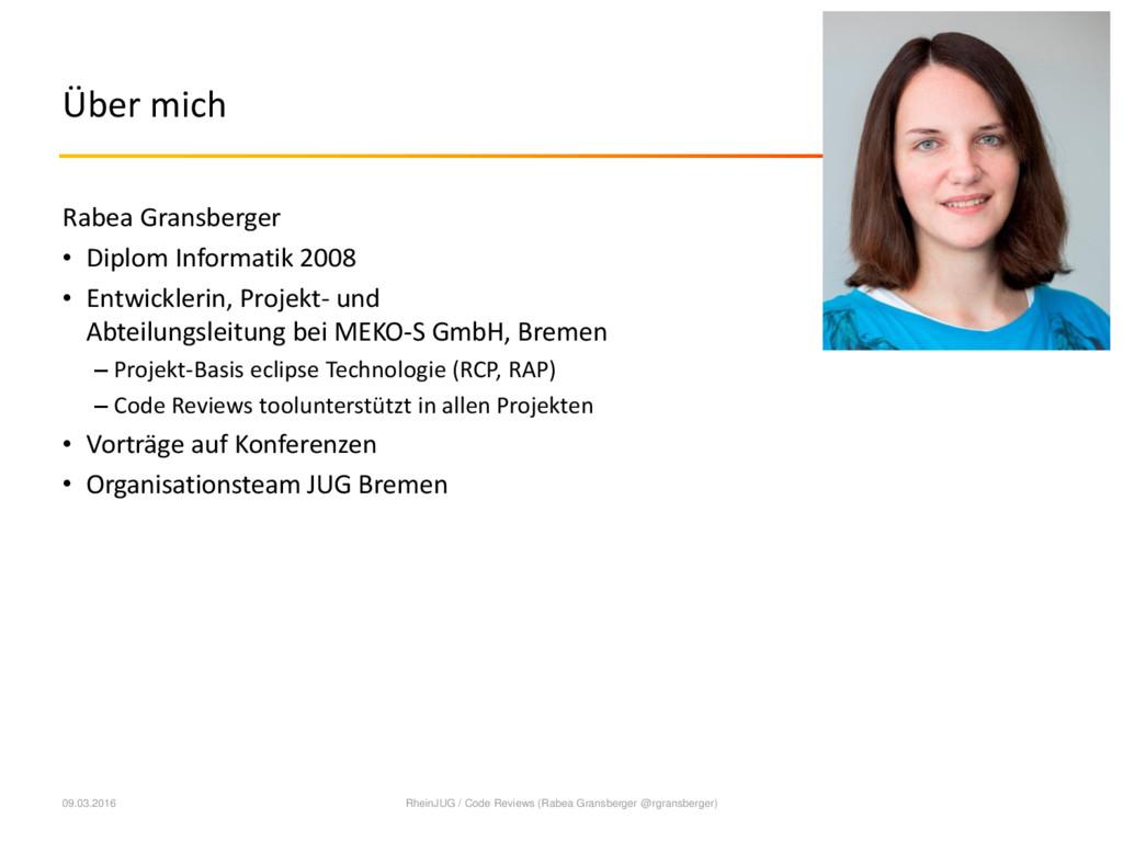 Über mich Rabea Gransberger • Diplom Informatik...