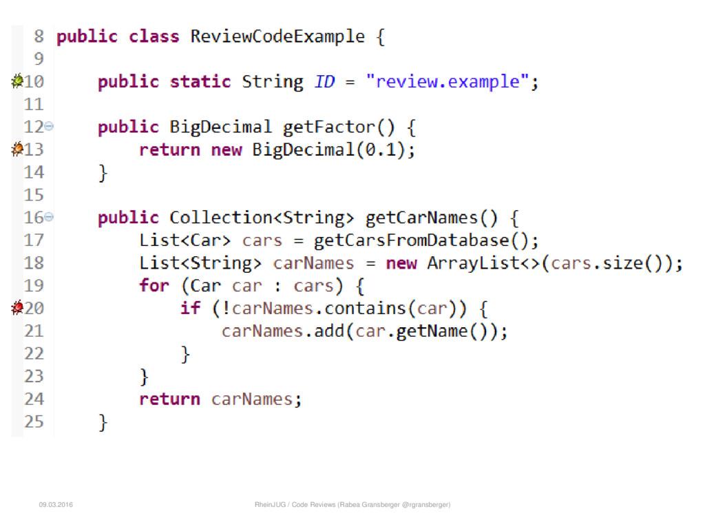 09.03.2016 RheinJUG / Code Reviews (Rabea Grans...
