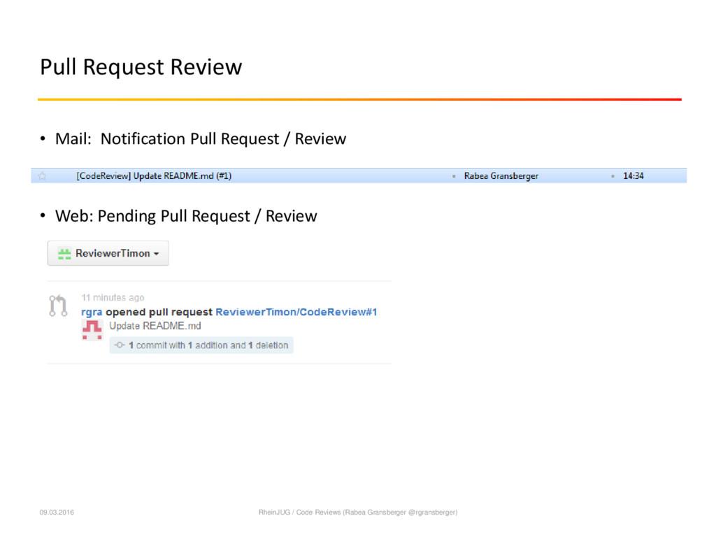 Pull Request Review 09.03.2016 RheinJUG / Code ...