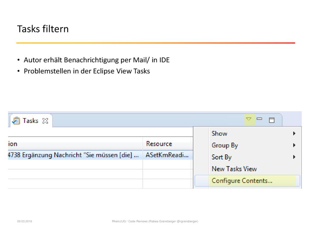 Tasks filtern • Autor erhält Benachrichtigung p...