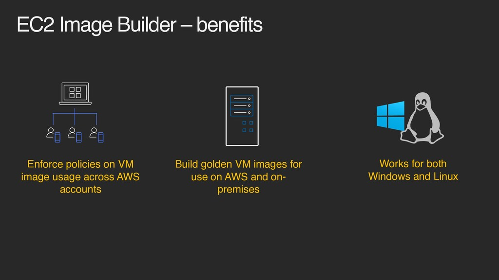 EC2 Image Builder – benefits Build golden VM im...