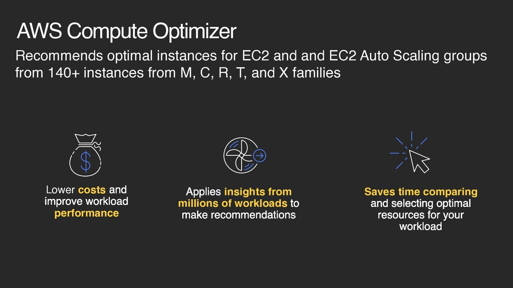 AWS Compute Optimizer Recommends optimal instan...