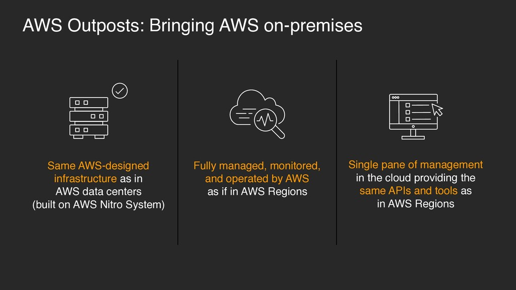 Same AWS-designed infrastructure as in 