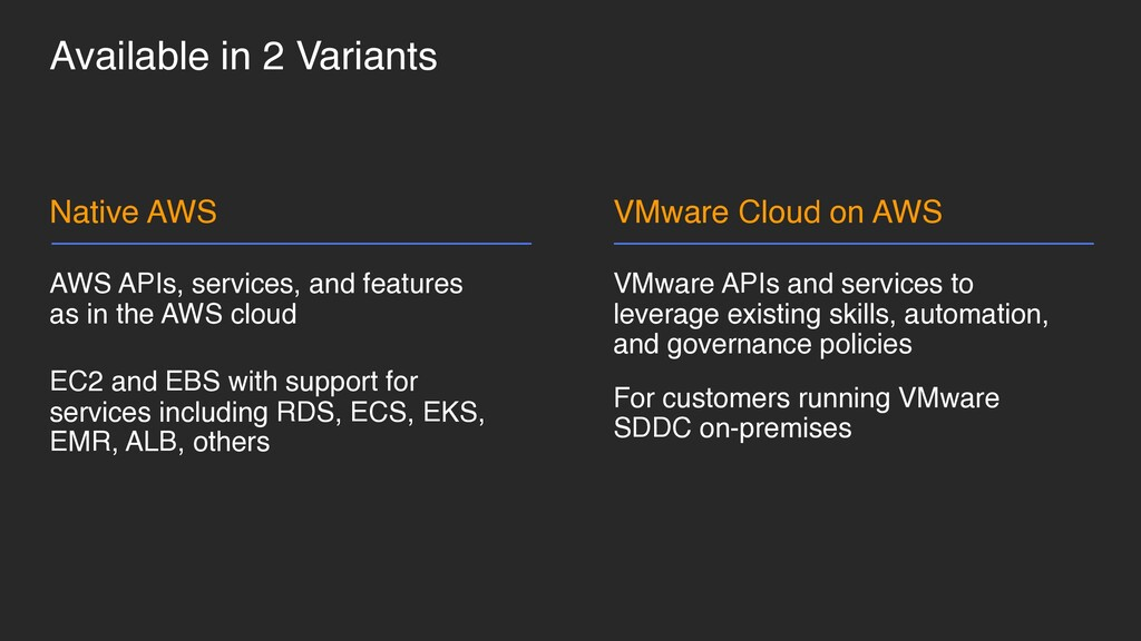 Available in 2 Variants VMware APIs and service...
