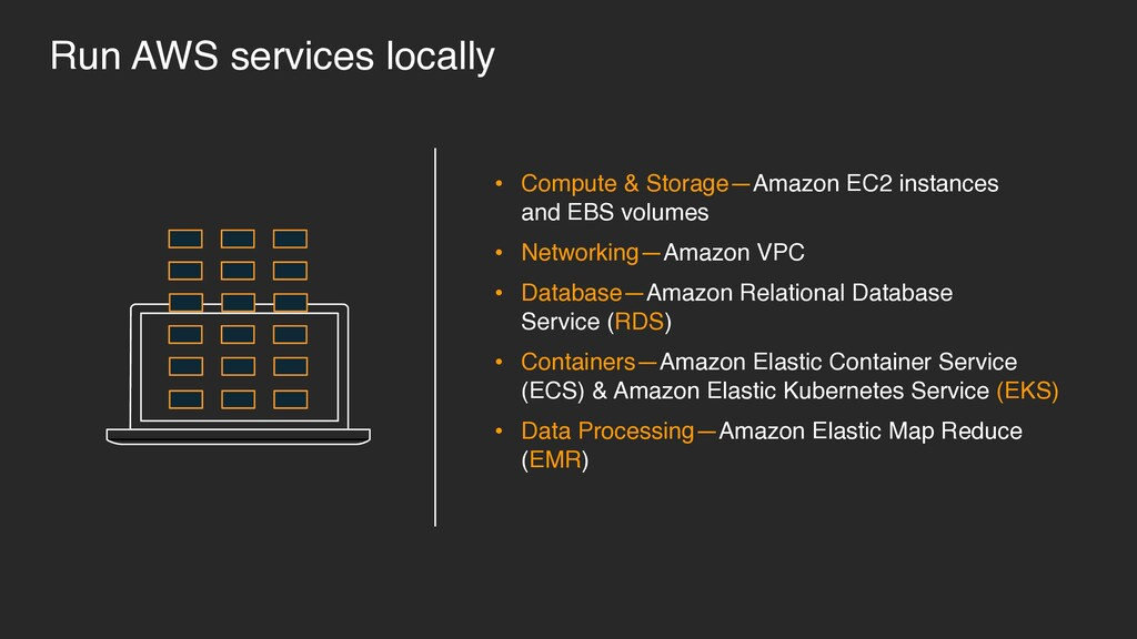 • Compute & Storage—Amazon EC2 instances 