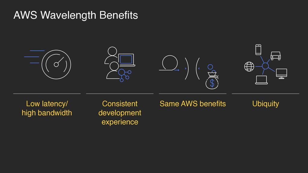 AWS Wavelength Benefits Low latency/ high band...