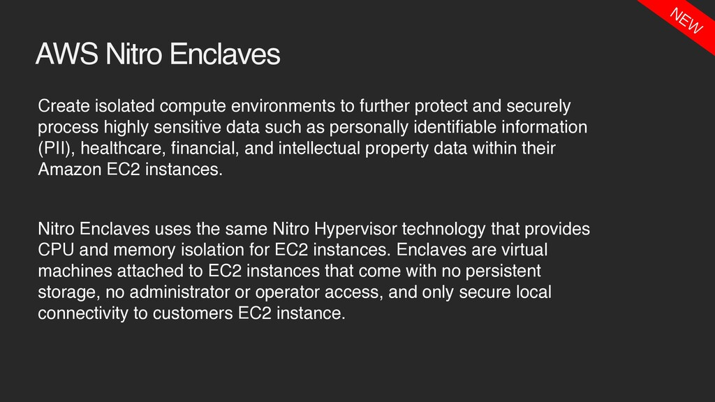 AWS Nitro Enclaves Create isolated compute envi...