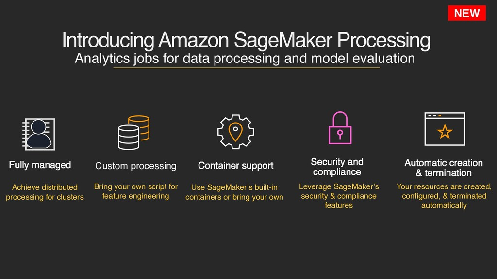 Introducing Amazon SageMaker Processing NEW Ana...