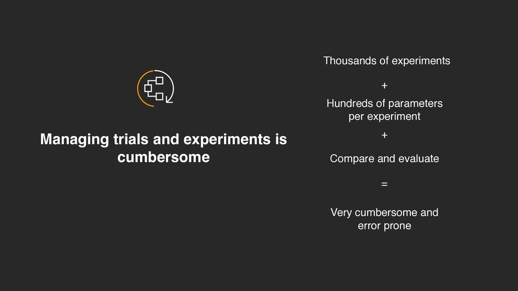 Managing trials and experiments is cumbersome T...