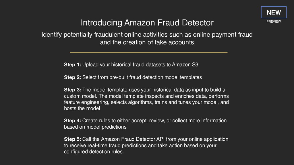 Introducing Amazon Fraud Detector Identify pote...