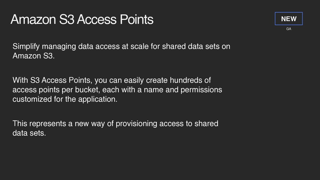 Amazon S3 Access Points Simplify managing data ...