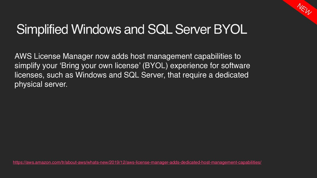 Simplified Windows and SQL Server BYOL AWS Lice...