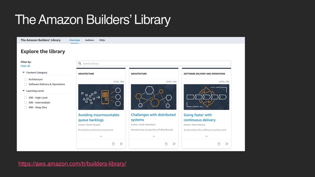 The Amazon Builders' Library https://aws.amazon...