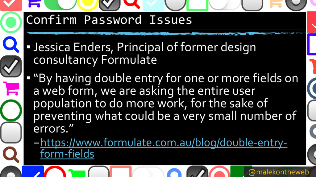 @malekontheweb Confirm Password Issues ▪ Jessic...