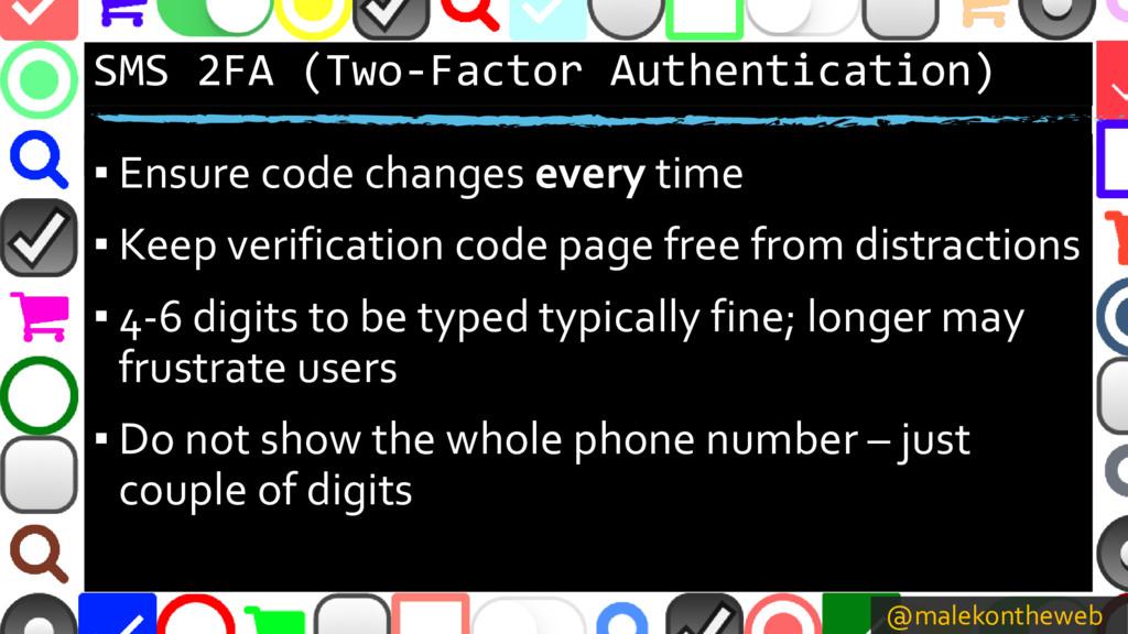 @malekontheweb SMS 2FA (Two-Factor Authenticati...