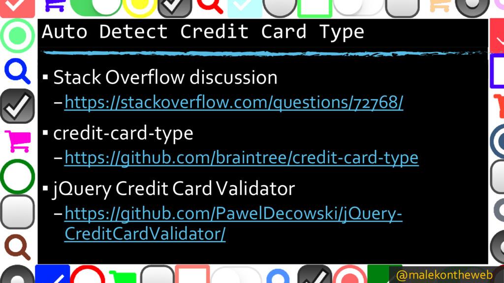 @malekontheweb Auto Detect Credit Card Type ▪ S...