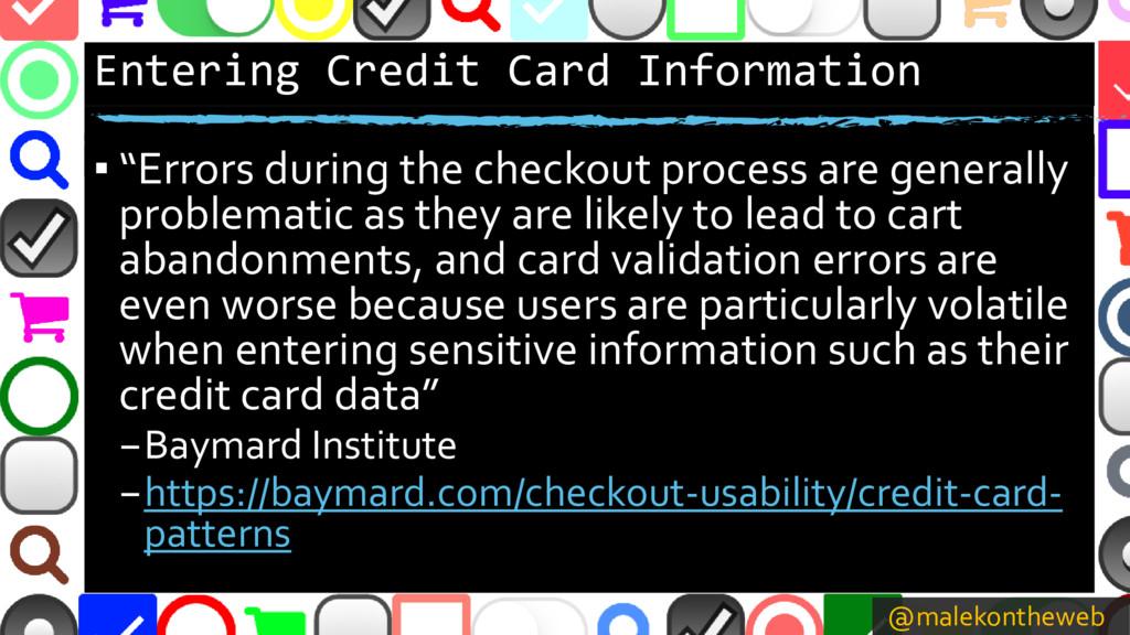 @malekontheweb Entering Credit Card Information...
