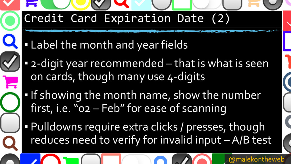 @malekontheweb Credit Card Expiration Date (2) ...