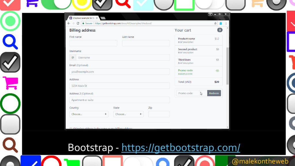@malekontheweb Bootstrap - https://getbootstrap...