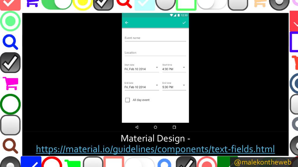 @malekontheweb Material Design - https://materi...