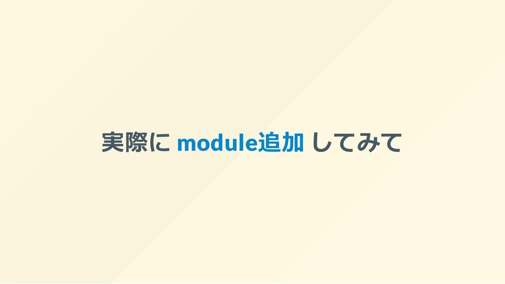 実際に module追加 してみて