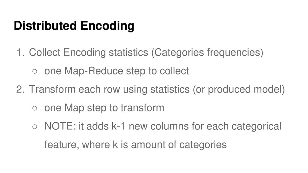Distributed Encoding 1. Collect Encoding statis...