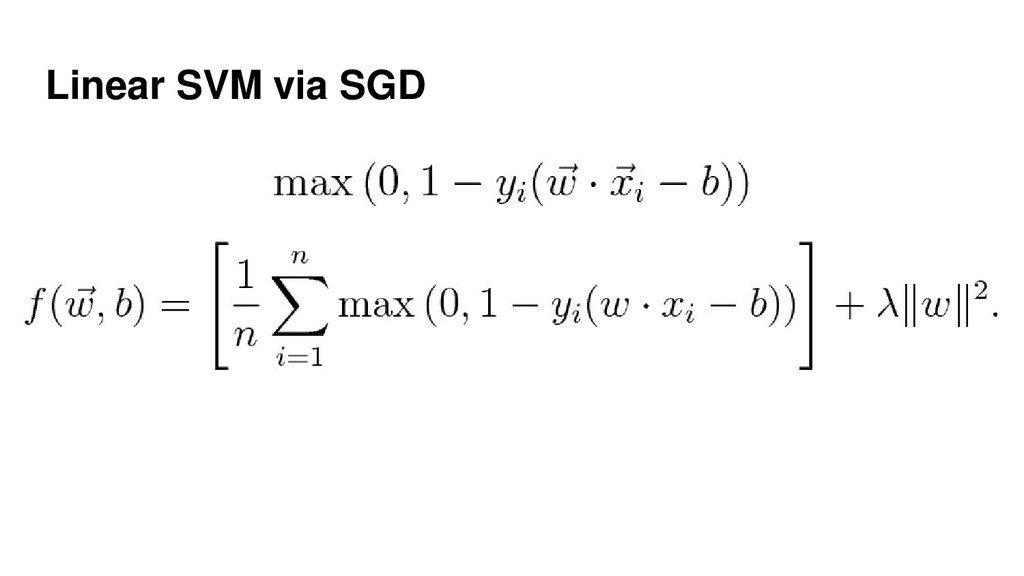 Linear SVM via SGD